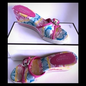 Coach Perry Wedge Sandals